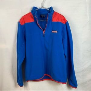 Vineyard vines quarter zip fleece pullover M